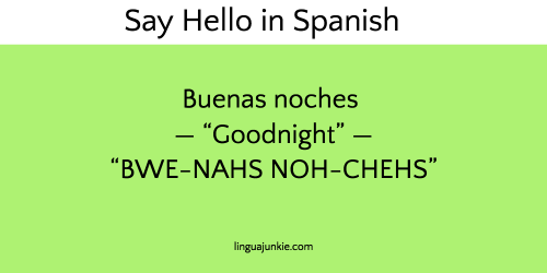 say hello in spanish
