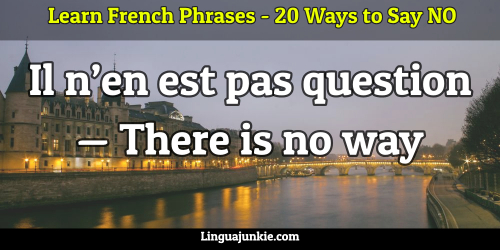 say no in french