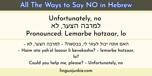 say no in hebrew