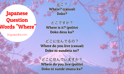 say where in japanese