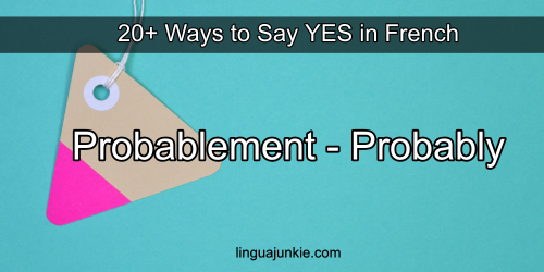 say yes in french