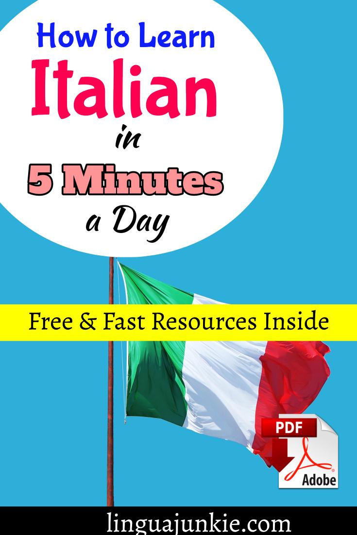 learn italian in 5 minutes