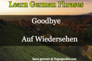 say bye in german