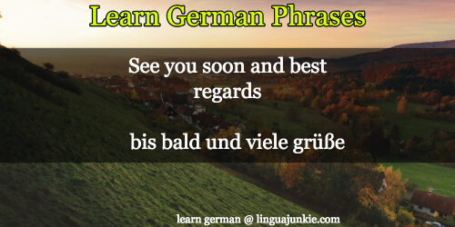 say bye in german