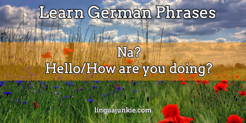 how to say hello in german language