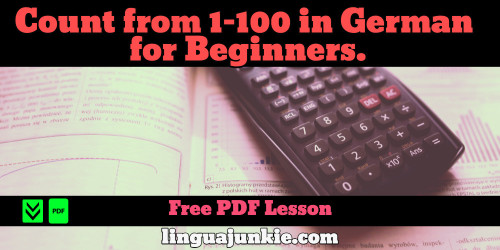 German Numbers 1 to 100 - Learn to Count in 4 Easy Steps