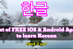 best korean learning apps