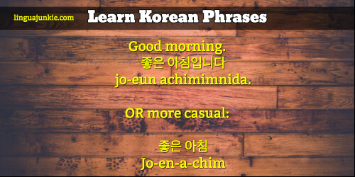 What S Good Morning In Korean : For beginners unique ways to say hello in korean