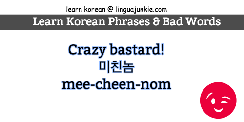 Part 5: Learn Top 15 Bad Korean Words, Curses & Insults