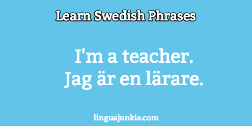 how to introduce yourself in swedish