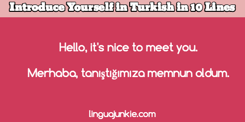 How to introduce yourself in turkish in 10 lines introduce yourself in turkish m4hsunfo