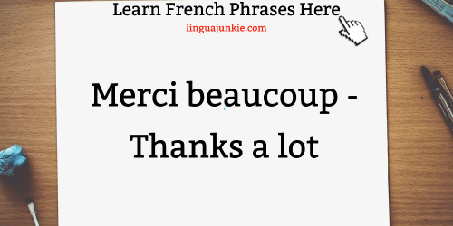 How to say thank you in french informal